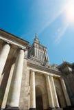 Warschau, Palast der Kultur und der Wissenschaft Stockbilder