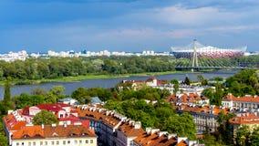 Warschau-Panorama Stockfoto