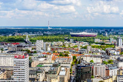 Warschau-Panorama Lizenzfreie Stockbilder