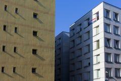 Warschau, Polen Altbauten kommunistisch stockbilder