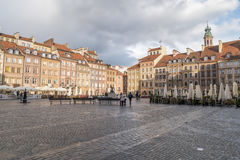 Warschau, Polen am 13. April 2017, alter Marktplatz Lizenzfreie Stockbilder
