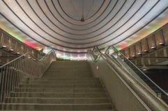 Warschau, Polen 21. April 2017 Sterne auf ` Warschau-Metrostation ` Plac Wilsona Lizenzfreie Stockbilder