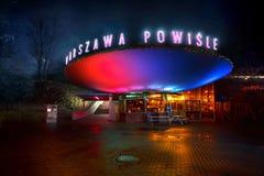 Warschau, Polen, Europa am 14. Dezember 2018 Ansicht des alten Bahnhofscaf?s Warschaus Powisle jetzt eine Stange lizenzfreies stockbild