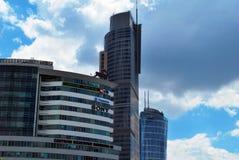 Warschau Polen, am 11. Juni 2016 Warschau-Handels-Turm Lizenzfreie Stockbilder