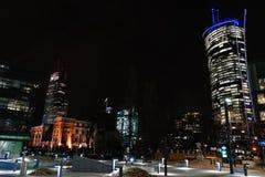 Warschau, Polen, am 7. März 2019: Schöne Ansicht des Abends Warschau lizenzfreie stockbilder