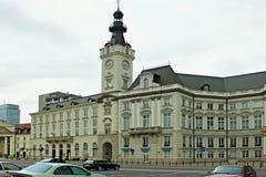 WARSCHAU, POLEN - 12. MAI 2012: Ansicht des Jablonowski-Palastes stockbild
