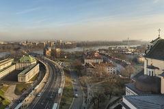 Warschau-` s alte Stadt Stockfotografie