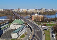 Warschau, Stolica Polski Stock Foto