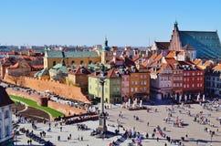 Warschau, Stolica Polski Stock Foto's