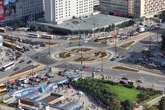 Warschau-Verkehr lizenzfreies stockfoto