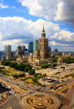 Warschau - Wolkenkratzer im Geschäftsgebiet lizenzfreies stockbild