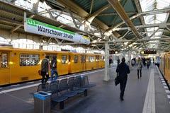 Warschauer Straße U-bahn地铁站 免版税库存图片