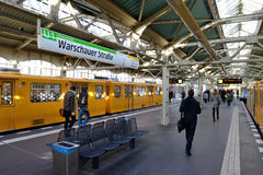 Warschauer Stra�e U-bahn subway station Royalty Free Stock Images