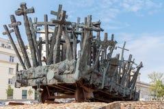 warshau Een monument aan die doodde in het oosten royalty-vrije stock foto's