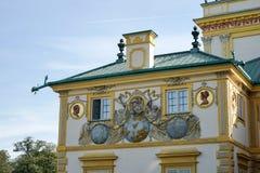 WARSHAU, POLAND/EUROPE - 17 SEPTEMBER: Wilanowpaleis in Warshau royalty-vrije stock fotografie