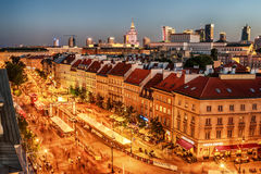 "WARSHAU, POLEN € ""5 AUGUSTUS, 2017: de oude stad, Krakowskie Predmiescie Royalty-vrije Stock Foto"