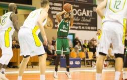 30 12 2017, Warshau, Polen, de Poolse Gelijke van de Basketbal Hoogste Liga: Miasto Szkla Krosno - Legia Warschau Stock Fotografie