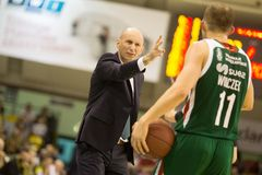30 12 2017, Warshau, Polen, de Poolse Gelijke van de Basketbal Hoogste Liga: Miasto Szkla Krosno - Legia Warschau Royalty-vrije Stock Foto's