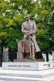 Warshau, Polen Een monument aan de hofmaarschalk Jozef Pilsudsky op Uyazdovskaya-Weg Royalty-vrije Stock Fotografie