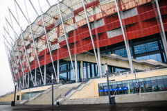 WARSHAU, POLEN - September 03, 2013: Het Nationale Stadion, bouwt Stock Afbeelding