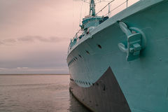 The warship. Nice view on the Warship and some his details royalty free stock images