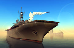 Warship Royalty Free Stock Photography