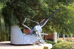 Warship antiaircraft gun Royalty Free Stock Photo
