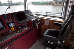 Warship command bridge stock image