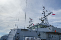 WARSHIP. Command post at the Norwegian warship Royalty Free Stock Images