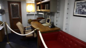 Warship commander cabin stock video footage
