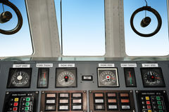 Warship control bridge Royalty Free Stock Photography