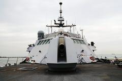 Warship 5. Warship in dock no engagement Stock Photos