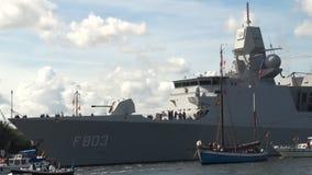 Warship stock video