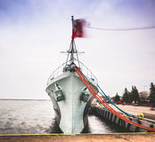 Warship in Gdansk Royalty Free Stock Image