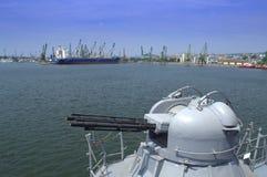 Warship gun Royalty Free Stock Images