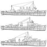 Warship Royalty Free Stock Photos