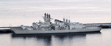 Warship at port Royalty Free Stock Photography