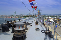 Warship prow Stock Photos