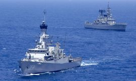 WARSHIP OF REPUBLIC INDONESIA Stock Photography