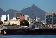Warship, Rio de Janeiro, Brazil Royalty Free Stock Photo