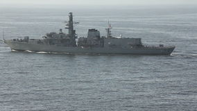 Warship on the Sea. Chile stock video footage