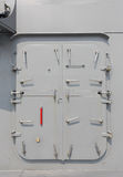 Warship - security door. Japan Maritime Self-Defense Force royalty free stock images