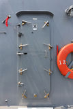 Warship - security door Stock Photo