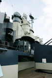 Warship superstructure. Details of the superstructure of a naval warship Royalty Free Stock Photo
