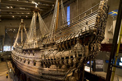 Warship Vasa, Stockholm. Warship Vasa that sunk in 1628 in the world famous Vasa museum in Djurgarden (Swedish: Djurgården) Stockholm, Sweden stock image