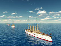 Warships Stock Images