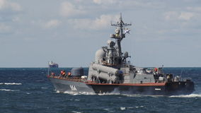 Warships out of the Sevastopol base stock video footage