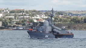 Warships out of the Sevastopol base stock footage