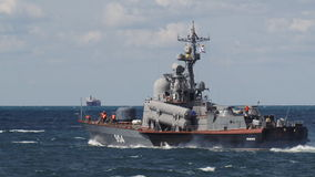 Warships out of the Sevastopol base stock video