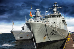 Warships in port Royalty Free Stock Image